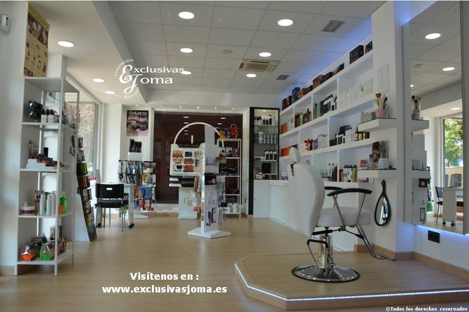Exclusivas Joma reforma de tienda Hairlab en Tres Cantos, reforma tu local comercial con nosotros, decoracion, interiorrismo y reforma todo en uno (1)
