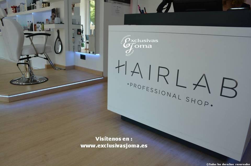 Exclusivas Joma reforma de tienda Hairlab en Tres Cantos, reforma tu local comercial con nosotros, decoracion, interiorrismo y reforma todo en uno (13)