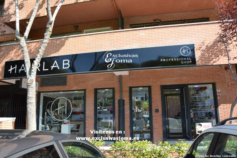 Exclusivas Joma reforma de tienda Hairlab en Tres Cantos, reforma tu local comercial con nosotros, decoracion, interiorrismo y reforma todo en uno (2)