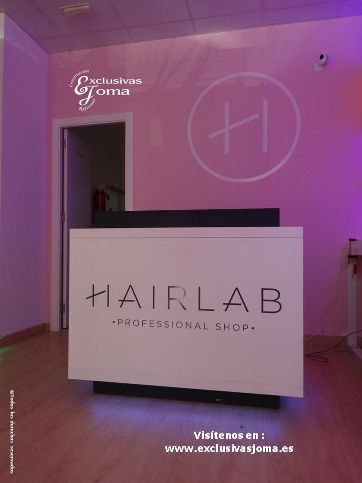 Exclusivas Joma reforma de tienda Hairlab en Tres Cantos, reforma tu local comercial con nosotros, decoracion, interiorrismo y reforma todo en uno (3)