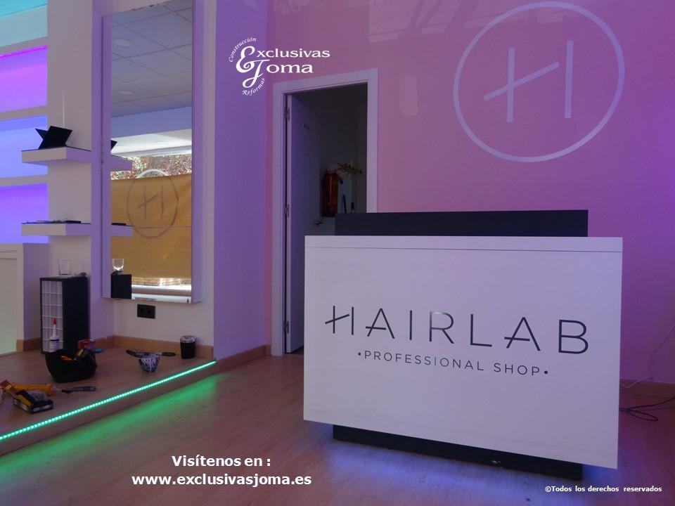 Exclusivas Joma reforma de tienda Hairlab en Tres Cantos, reforma tu local comercial con nosotros, decoracion, interiorrismo y reforma todo en uno (4)