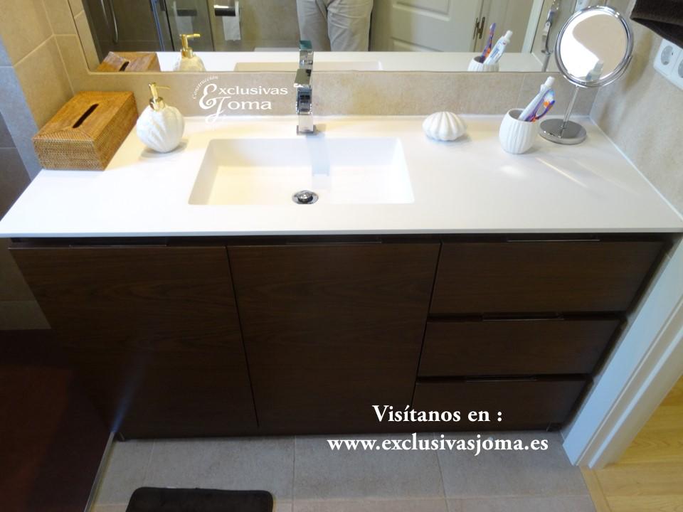 Reformas de ba os integrales en tres cantos saneamientos - Encimera marron chocolate ...