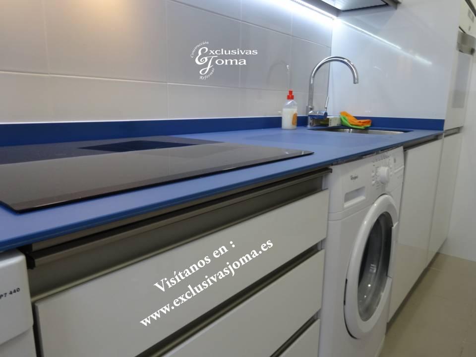 Muebles blanco y azul 20170903065211 for Muebles de cocina con encimera