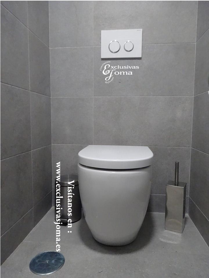 Reforma de baño en Tres cantos zona Sector planetas, sanitarios Roca meridian,cisterna Geberit,mueble de baño a medida (7)