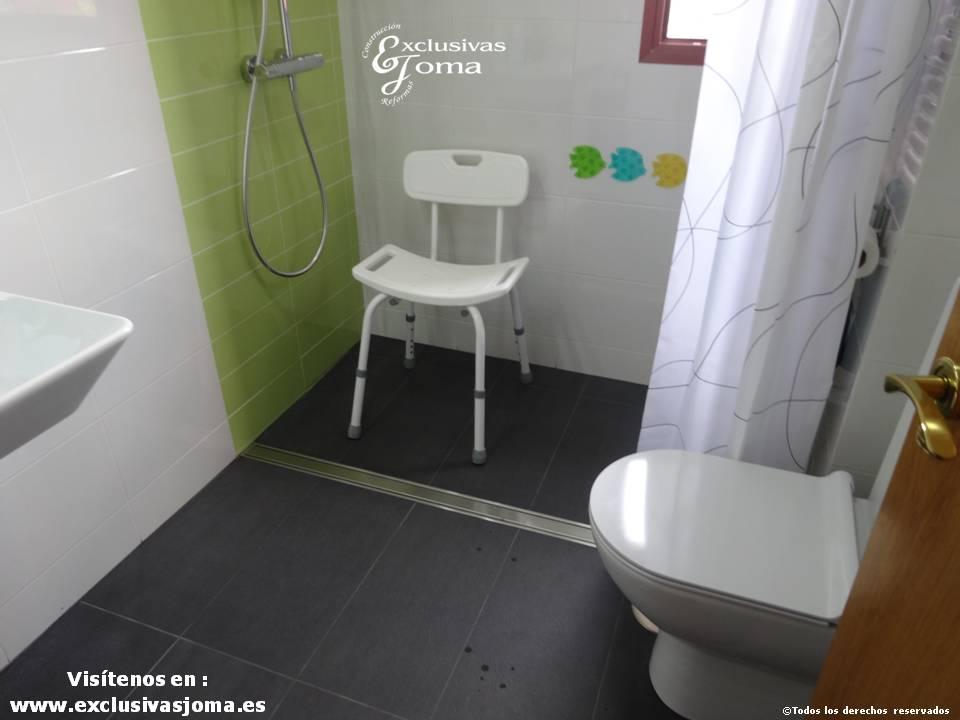 Reformas de baño integrales, acceso a discapacitados,baños discapacitados, baños minusvalidos, desague continuo baños, slutter desagues, exclusivas joma (8)