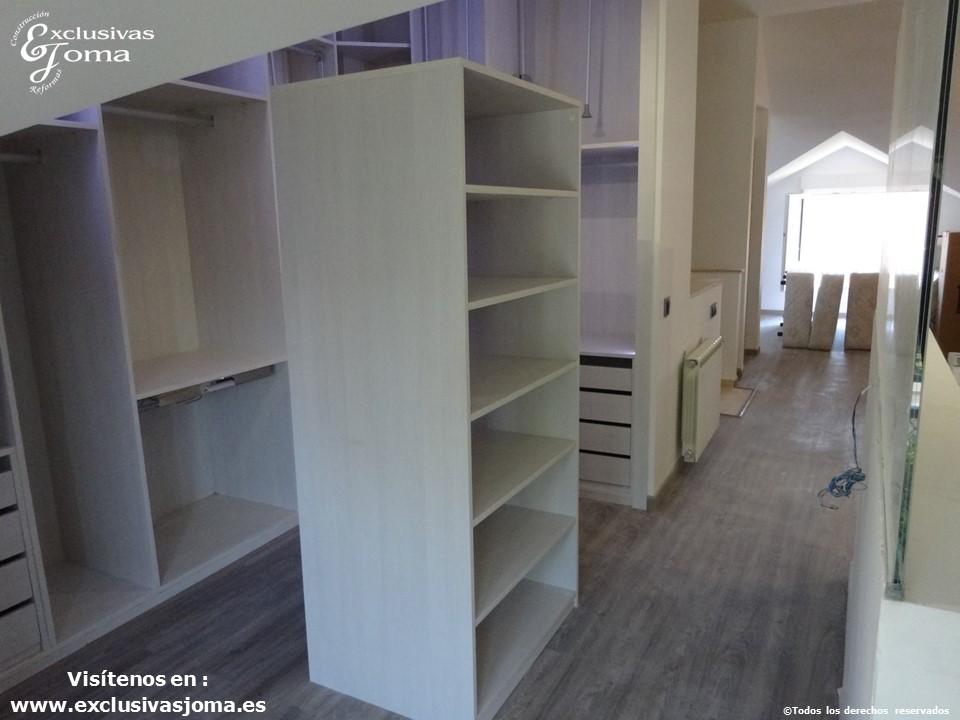 armarios a medida en tres cantos,vestidores en acabado lino cancun por control numerico, reforma integral de chalets, reformando pisos y vestidores (5)