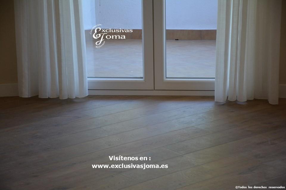 Reforma integral de piso en Tres Cantos en avenida Viñuelas,decoracion y diseño interior,tarima flotante Quick Step,puertas lacadas, ventans en pvc rpt,venacal (13)
