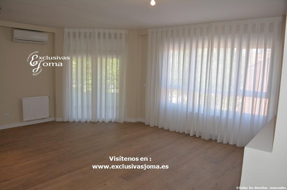 Reforma integral de piso en Tres Cantos en avenida Viñuelas,decoracion y diseño interior,tarima flotante Quick Step,puertas lacadas, ventans en pvc rpt,venacal (2)