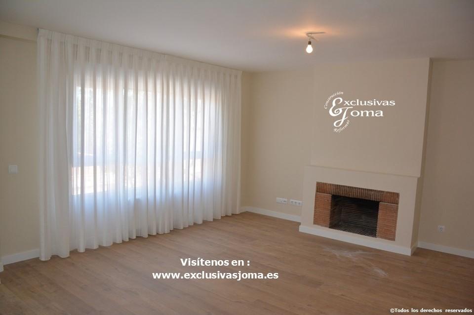 Reforma integral de piso en Tres Cantos en avenida Viñuelas,decoracion y diseño interior,tarima flotante Quick Step,puertas lacadas, ventans en pvc rpt,venacal (9)