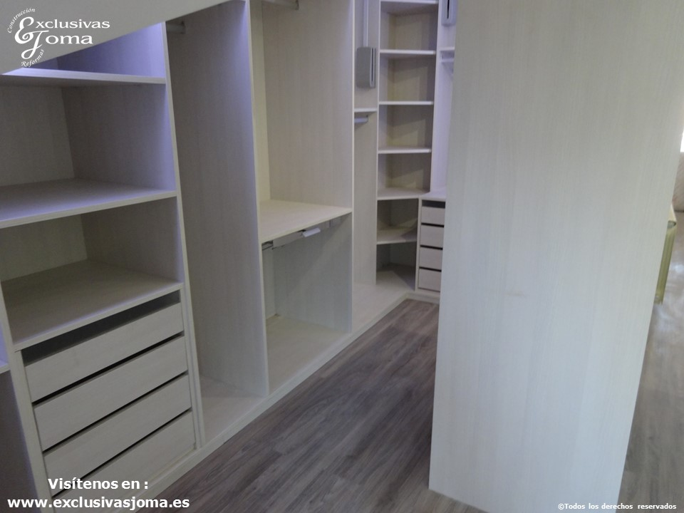 armarios a medida en tres cantos,vestidores en acabado lino cancun por control numerico, reforma integral de chalets, reformando pisos y vestidores